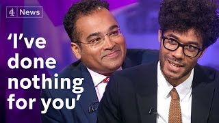 Who's interviewing who?! Richard Ayoade speaks to Krishnan Guru-Murthy