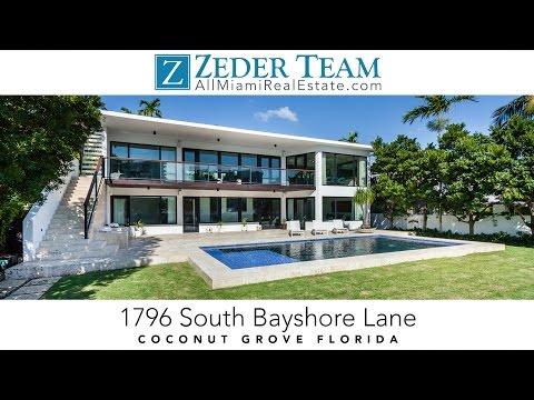 Coconut Grove Real Estate 1796 South Bayshore Lane