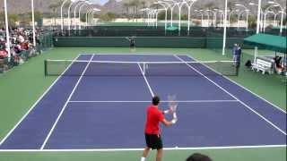 Juan Martin del Potro Practice 2013 BNP Paribas Open Part 1