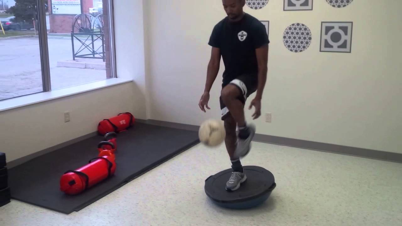 Bosu Balancing Exercise For Soccer Youtube