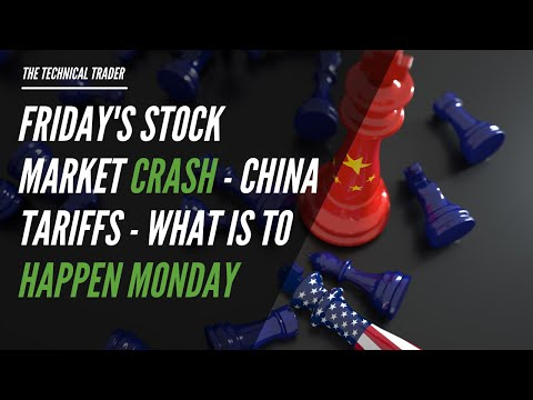 Friday's Stock Market Crash  – China Tariffs – What is To Happen Monday