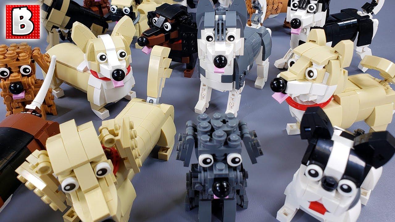 LEGO Dogs! 20+ Custom built doggies
