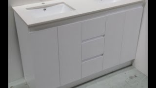 Buy Bathroom Caesarstone Vanity Melbourne [white-1200,1500 Or 1800 Mm]