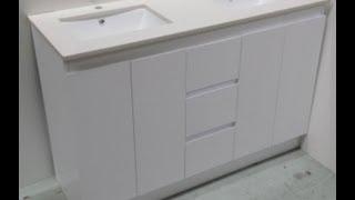 Buy Bathroom Caesarstone Vanity Melbourne [white-1200,1500 Or 1800 Mm]