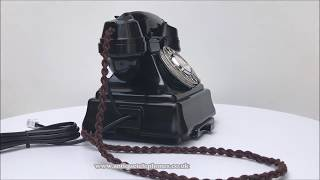Black GPO 232 on a No26 GPO bell set Antique Telephones