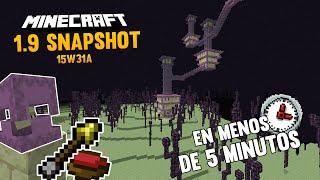 ¡QUÉ PASADA! MINECRAFT 1.9 SNAPSHOT 15W31A EN MENOS DE 5 MINUTOS