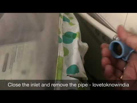 How to clean water inlet filter- LG watching machine