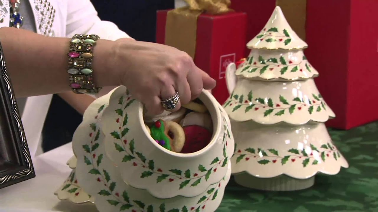 Lenox Holiday Archive Figural Tree Cookie Jar On QVC