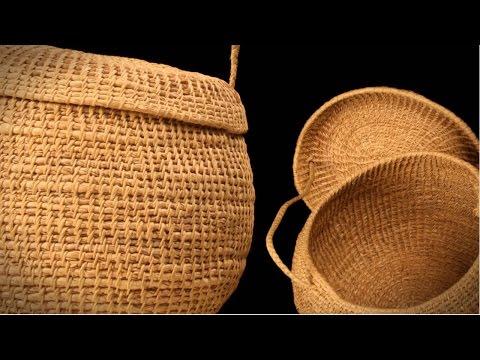 Curso Cestaria em Fibras Bambu, Cipó, Taboa - Cesta com Fundo de Madeira