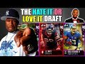 THE HATE IT OR LOVE IT DRAFT! 10 PLAYERS I LOVE AND 10 PLAYERS I HATE! Madden 18 Draft Champions