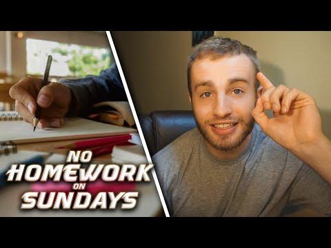 Why I Don't Do Homework on Sundays