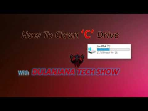 How To Clean'C' Drive With Dulanjana Tech Show