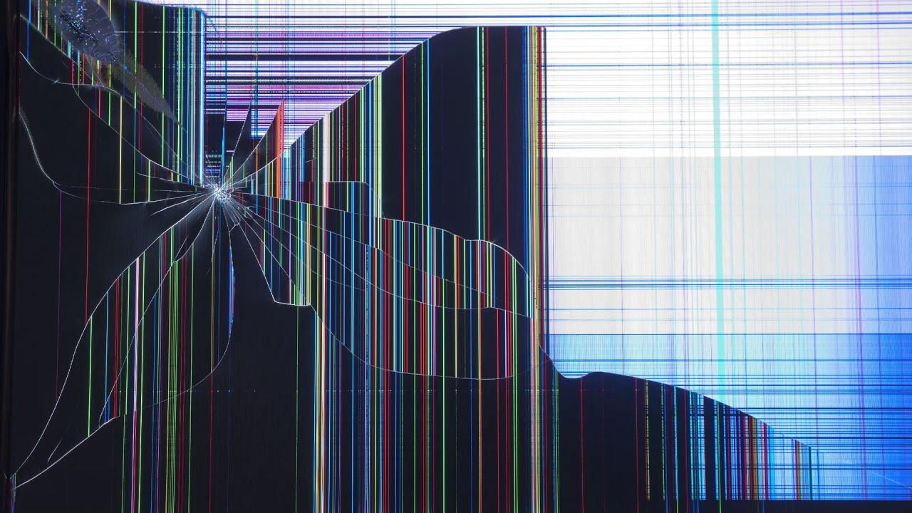 broken tv screen prank