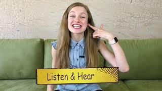 Разница между Listen and Hear
