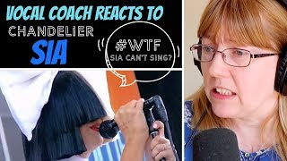 Vocal Coach Reacts to Sia - Chandelier LIVE #whatwentwrong - Sia has lost her voice?
