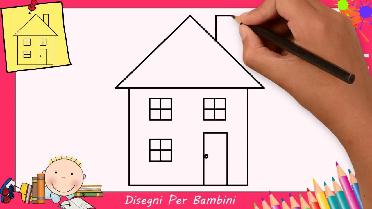come disegnare una casa facile passo per passo per bambini