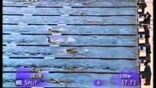 NUOTO ATLANTA 1996 200 DORSO BRONZO DI RAFFAELE MERISI