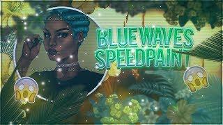 Speedpaint   Blue Waves - Xans