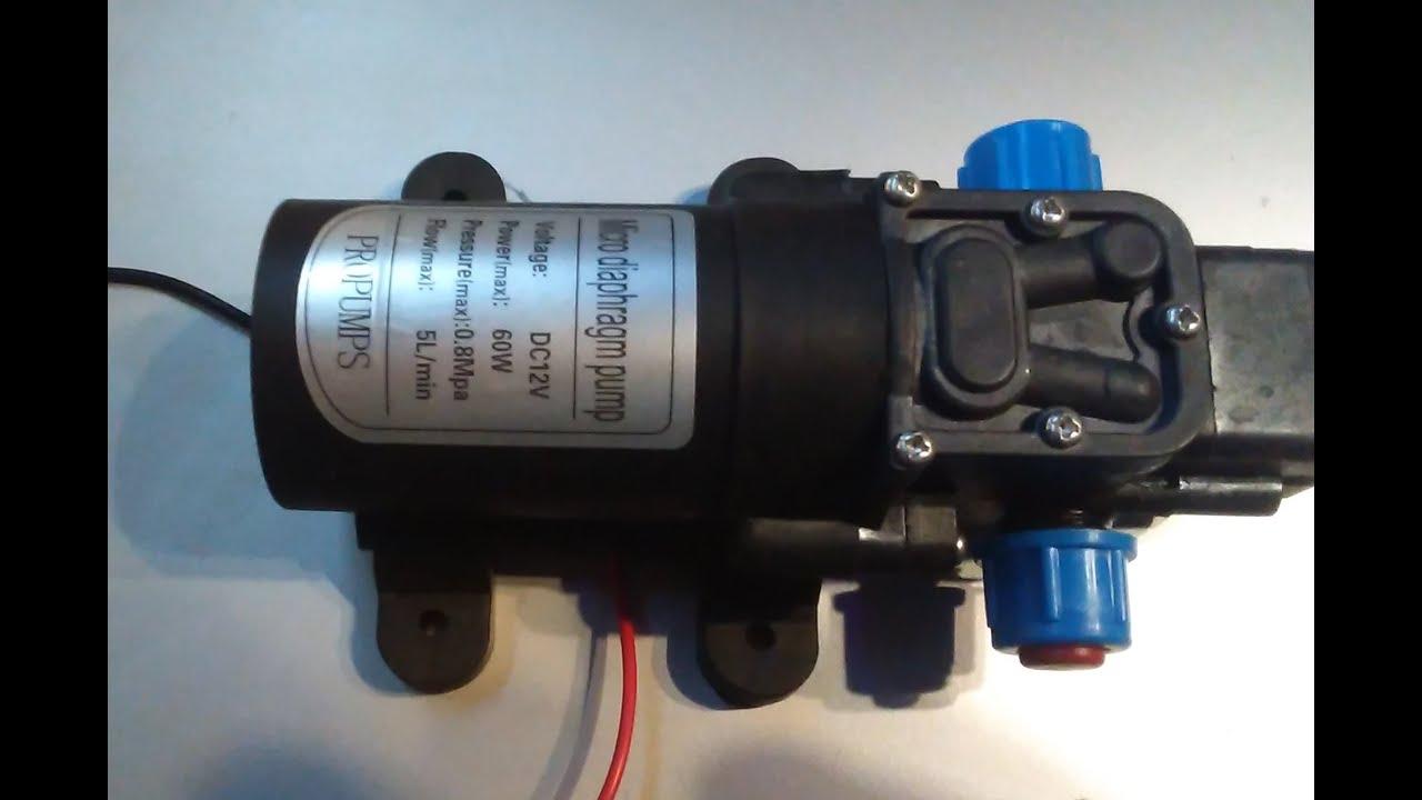 Водопроводный насос 12 вольт - YouTube