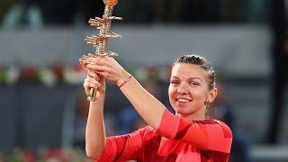 2016 mutua madrid open final wta highlights   simona halep vs dominika cibulkova