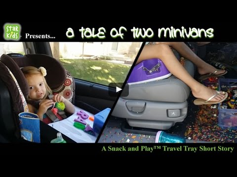 A Tale Of Two Minivans The Snack And PlayTM Travel Tray