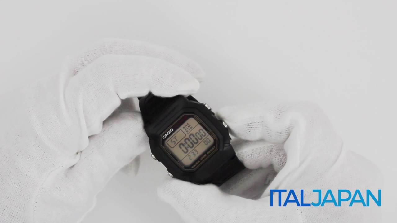 1e07d045677d orologio Casio Retro Vintage W-800HG-9A - YouTube