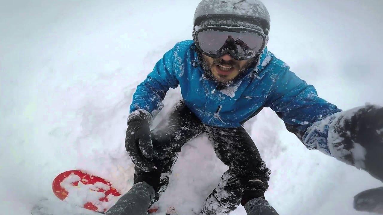 Caduta fuoripista snowboard alpe di mera