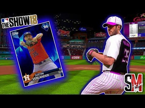 No Hitter!? Diamond Justin Verlander Debut! MLB The Show 18 Gameplay