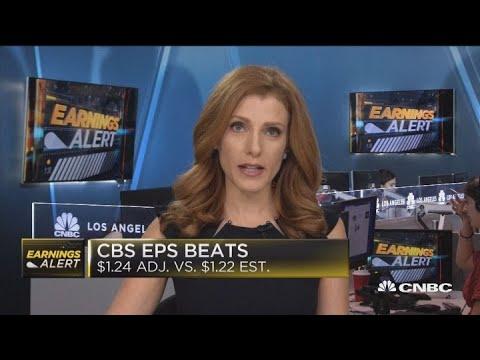 CBS beats earnings, revenue expectations