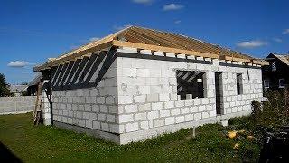 Сами строим себе дом из пеноблоков ч .9