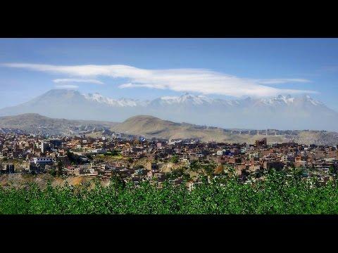 The White City Arequipa, Peru. (Aerial Video)