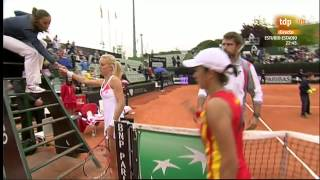 S.Soler-Urszula Radwanska last game Spain-Poland Fed Cup 2014 Barcelona