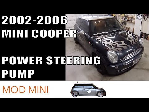 MINI Cooper Replace Power Steering Pump howto  Gen 1 20022006 R50 R53 R52