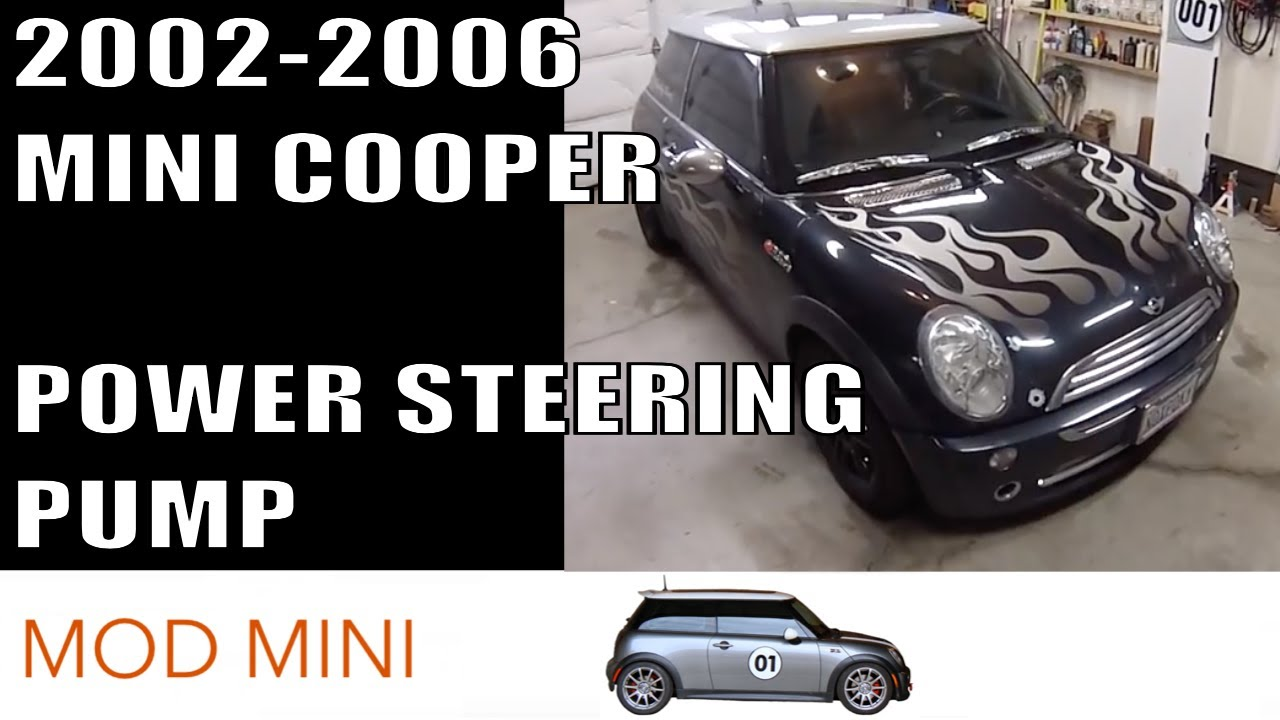 MINI Cooper Replace Power Steering Pump howto - Gen 1 2002-2006 R50 ...