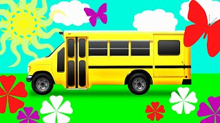 Wheels on the Bus. Learn Colors for kids. Learning street vehicles. Nursery Rhymes & Kids Songs