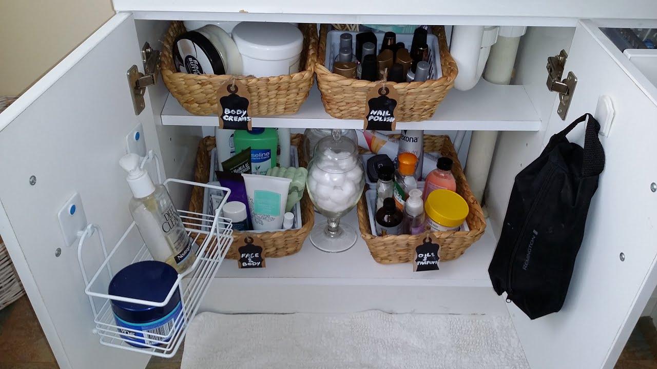 ❤❤How to organize under the bathroom sink   كيف تنظم تحت حوض الغسيل في الحمام❤❤