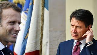 Après une semaine de tensions, Macron reçoit Conte, le président du Conseil italien, à l'Élysée