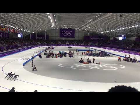 PyeongChang Olympic Speed Skating Team Pursuit Netherlands VS New zealand For the Bronze