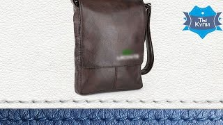 Сумка-планшет мужская с вышивкой 97424270 коричневая. Купить в Украине. Обзор