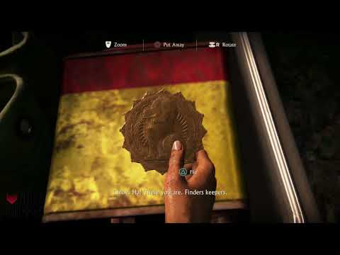 Uncharted: The Lost Legacy - Dog Hoysala token/Locked Box/Treasure (Leather Covered Binoculars)