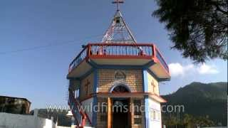 Brown church on a Nagaland Hilltop - Yikhum Baptist Church
