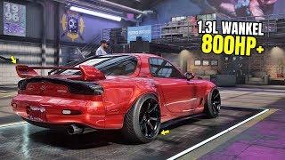Need for Speed Heat Gameplay - 800HP MAZDA RX-7 SPIRIT R Customization   Max Build