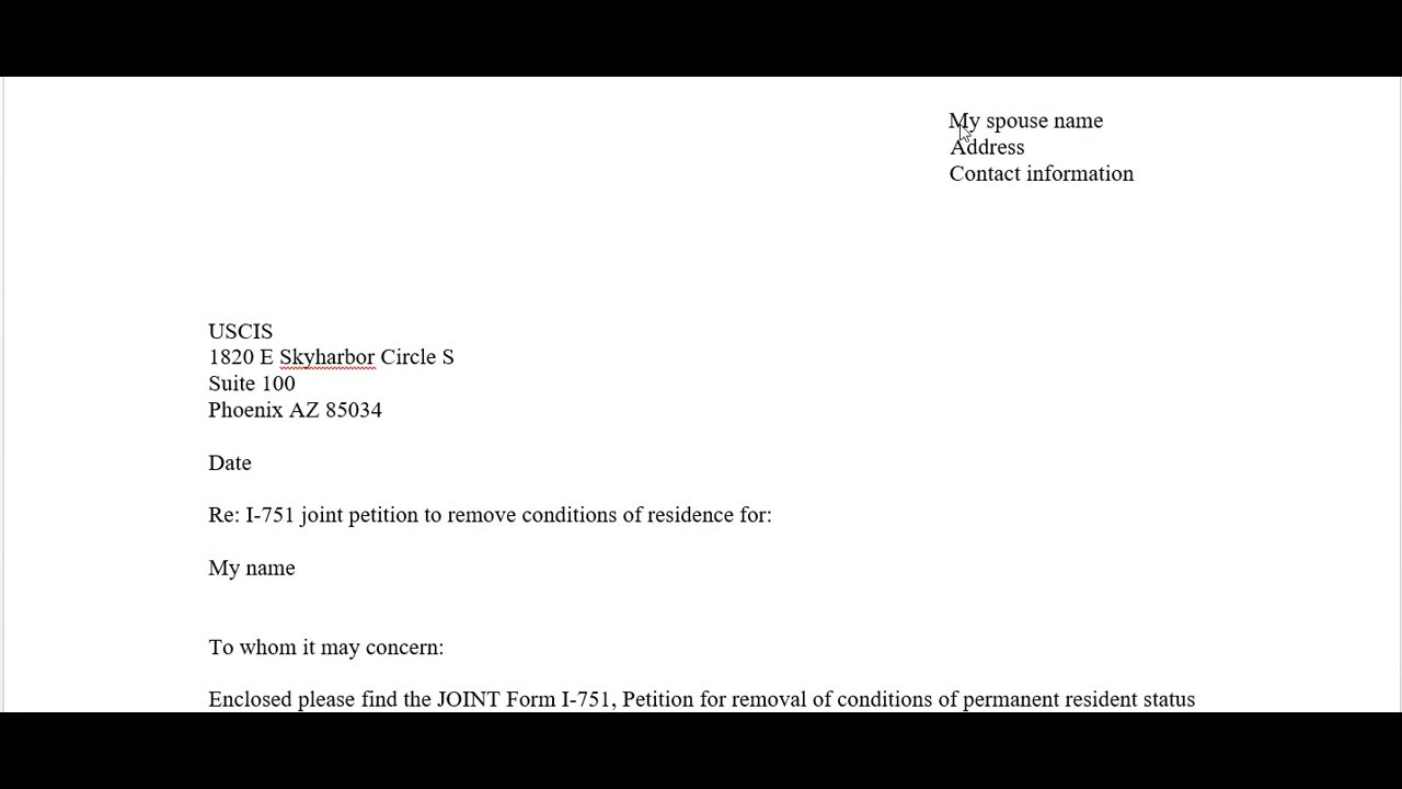 Sample Cover Letter Of The Removal