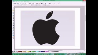 Logo Designing in Xara Xtreme - Apple Logo Replica using Shape Editor Tool