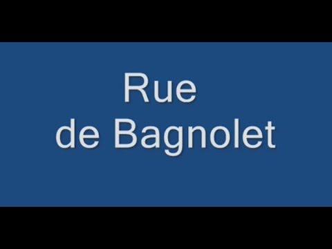 Rue de Bagnolet Paris Arrondissement  20e