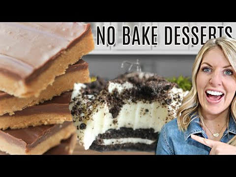 3 Easy DUMP AND GO No Bake Desserts