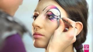 Карандашная техника  Подиумный макияж(, 2013-10-17T21:23:44.000Z)