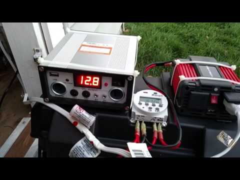 45 watt Harbor Freight Solar powered shed update.
