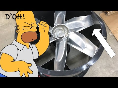 The paint booth fan saga continues youtube for Paint booth fan motor