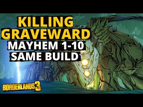 Killing Graveward Mayhem 1 - Mayhem 10 But With The Same Build Borderlands 3